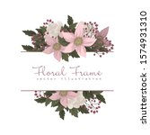 pink and white floral border | Shutterstock .eps vector #1574931310