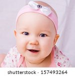 Baby With Blue Eyes Smiling  7...