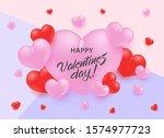 happy valentine day greeting... | Shutterstock .eps vector #1574977723