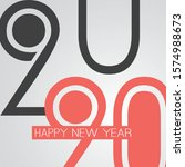 best wishes   funny retro style ... | Shutterstock .eps vector #1574988673