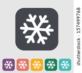 snowflake flat icon. vector... | Shutterstock .eps vector #157499768