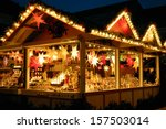 illuminated christmas fair... | Shutterstock . vector #157503014