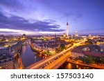 Stock photo berlin germany viewed from above the spree river 157503140