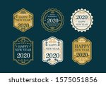 flat collection of new year... | Shutterstock .eps vector #1575051856