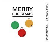 christmas vector greeting card. ... | Shutterstock .eps vector #1575075493