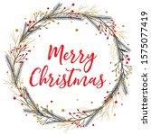 vector merry christmas greeting ... | Shutterstock .eps vector #1575077419