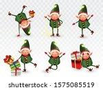 Set Of Cute Christmas Elves....