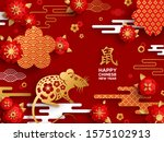 banner with 2020 chinese new... | Shutterstock .eps vector #1575102913