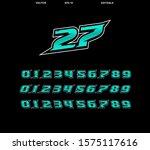 vector racing number template...   Shutterstock .eps vector #1575117616
