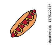 delicious hot dog fast food...   Shutterstock .eps vector #1575120859