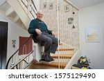 Elderly Man In The Staircase...