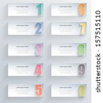 abstract 3d paper numbered... | Shutterstock .eps vector #157515110