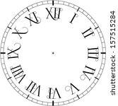 vector vintage clock | Shutterstock .eps vector #157515284