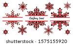 buffalo plaid snowflakes name ... | Shutterstock .eps vector #1575155920
