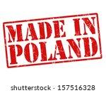 made in poland grunge rubber... | Shutterstock .eps vector #157516328