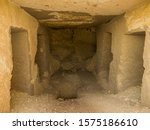 View Of The Interior Of A Tomb...