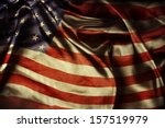 closeup of ruffled american... | Shutterstock . vector #157519979
