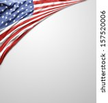 closeup of american flag on... | Shutterstock . vector #157520006