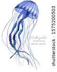 Blue Watercolor Jellyfish...