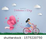happy valentine's day day card. ...   Shutterstock .eps vector #1575220750