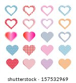 hearts collection and also set... | Shutterstock .eps vector #157532969