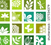 floral icons   Shutterstock .eps vector #157534379