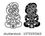 hei tiki icon  an ornamental... | Shutterstock .eps vector #1575355363