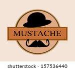 mustache template banner with... | Shutterstock .eps vector #157536440