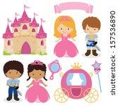 vector illustration of princess ... | Shutterstock .eps vector #157536890