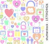 love seamless pattern... | Shutterstock .eps vector #1575424426
