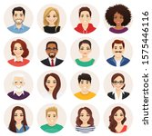 smiling people avatar set.... | Shutterstock .eps vector #1575446116