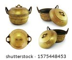 antique cooking pot on white... | Shutterstock . vector #1575448453