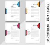 creative modern business...   Shutterstock . vector #1575451513