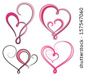 set of vector hearts | Shutterstock .eps vector #157547060