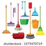 dustpans brooms mops buckets... | Shutterstock .eps vector #1575470719