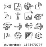 rfid icons. wireless radio... | Shutterstock .eps vector #1575470779