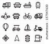 transport icons   Shutterstock .eps vector #157547630