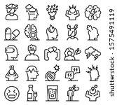stress icons set. outline set... | Shutterstock .eps vector #1575491119
