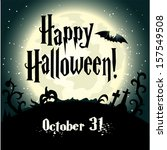 halloween background with full...   Shutterstock .eps vector #157549508