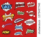 comic sounds visualization ...   Shutterstock .eps vector #1575497740
