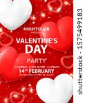 happy valentine's day party... | Shutterstock .eps vector #1575499183