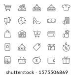 shopping outline vector icons...