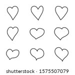 hearts outline vector icons.... | Shutterstock .eps vector #1575507079