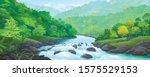 a river stream flowing across... | Shutterstock .eps vector #1575529153