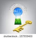 key to opportunity concept... | Shutterstock .eps vector #157555403