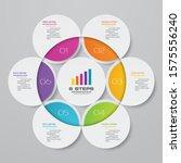 6 steps simple editable process ... | Shutterstock .eps vector #1575556240