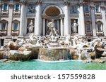 Trevi Fountain In Rome  Italy.