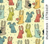 rabbits pattern. | Shutterstock .eps vector #157561619