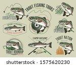 vintage trout fishing emblems ... | Shutterstock .eps vector #1575620230