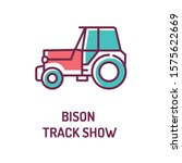 bison track show color line...